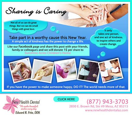 Dentist Mesa - Sharing is Caring Banner